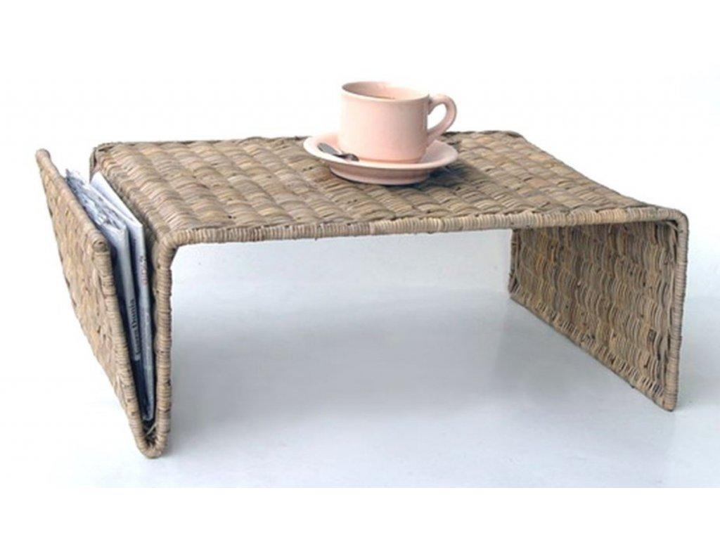 Ratanový servírovací stolek IRON slimit grey