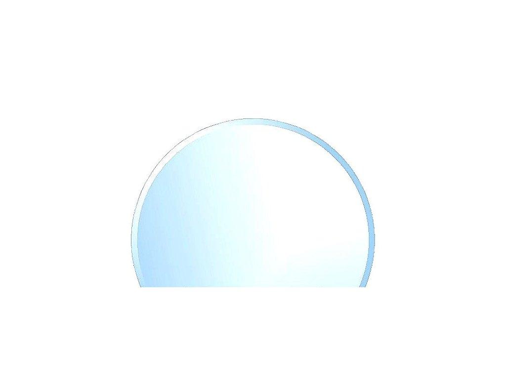 sklo kulaté s fazetou