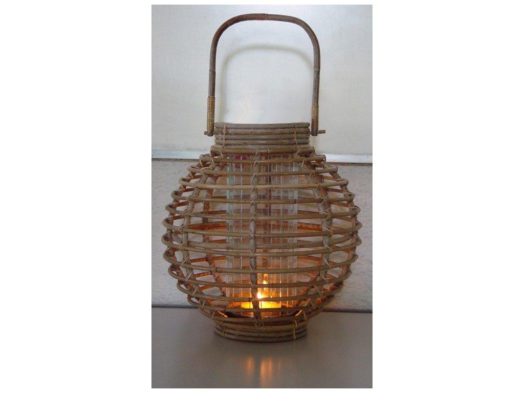 Lampion  JAWIT GREY kulaté + sklo