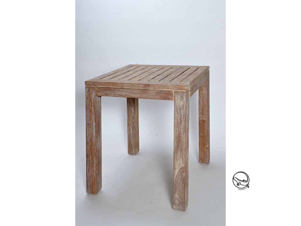 Teakový jídelní DINING stůl 70x70cm (2)