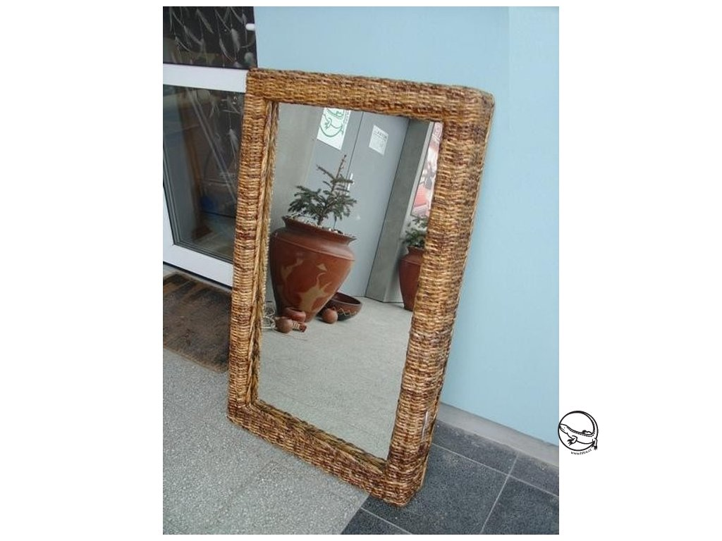 Zrcadlo 100x60 - BANÁN - hluboký rám