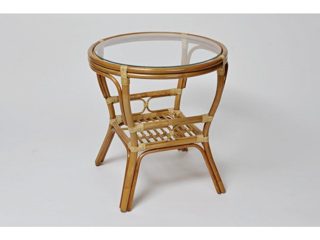 Ratanový stůl PELANGI kulatý bez v LH