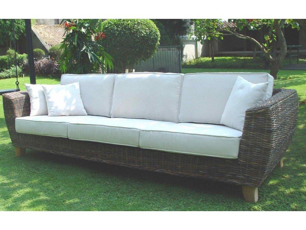 TONDANO pohovka XXL - černý ratan BARU super sofa