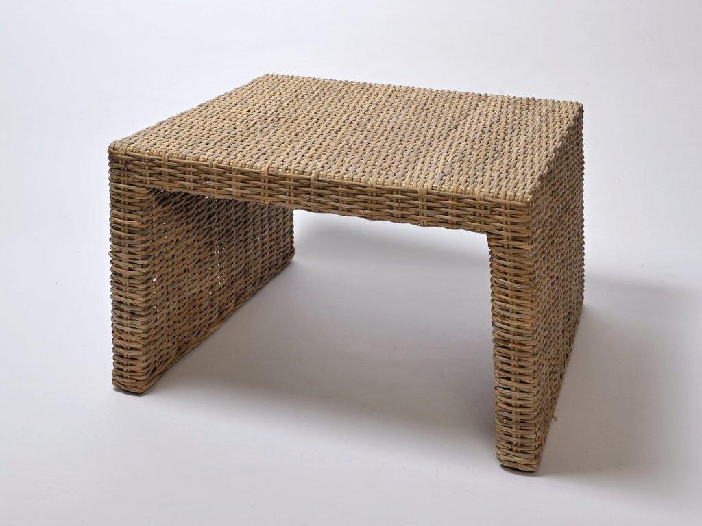 Ratanový stůl BRUNO/PANDORA 80x80 kubu grey