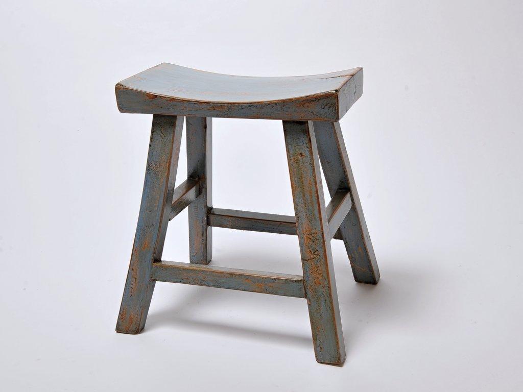 Dřevěná stolička/ sedlo modrá (39072006)