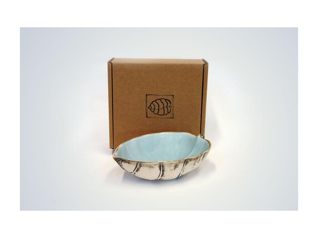 boxed aqua puka bowl 22
