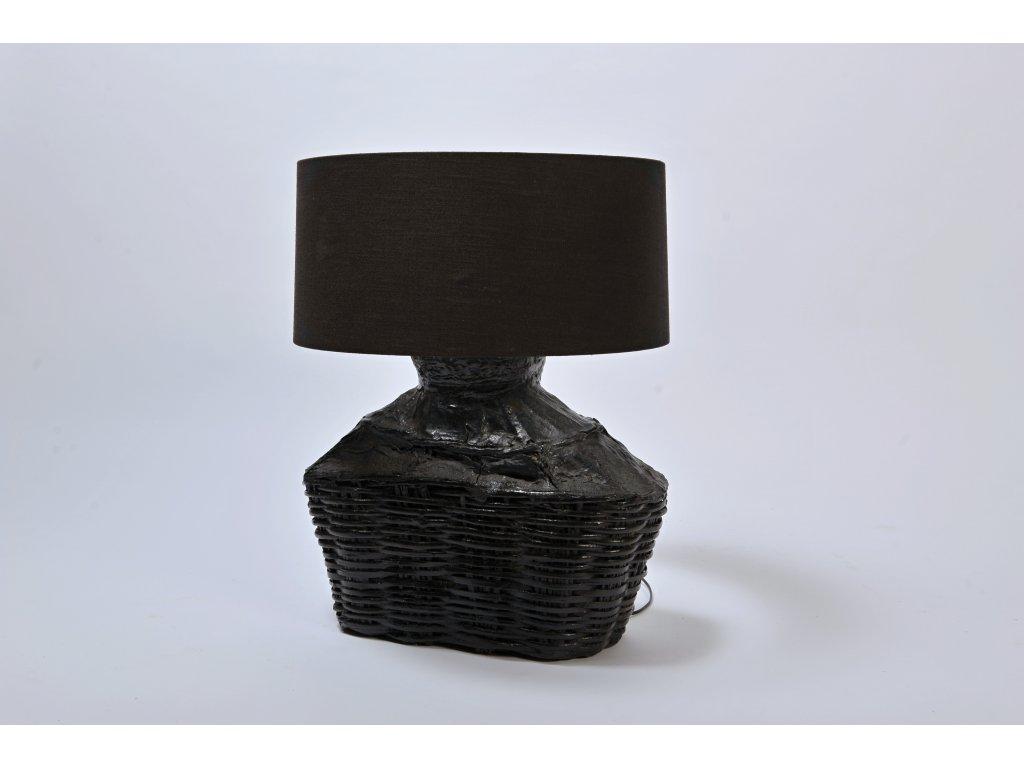 Lampa černá NETTY Rybí koš