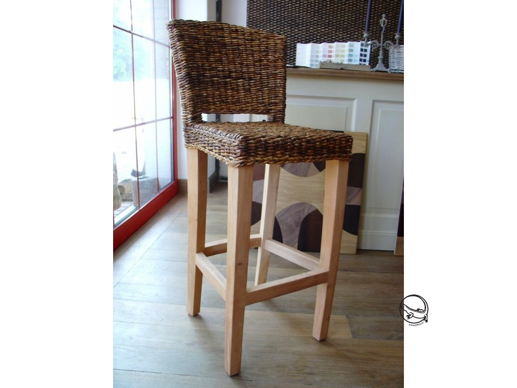 Barová židle banán bez polstru