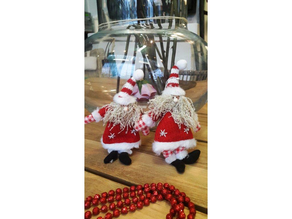 Pletené vánoční ozdoby 002