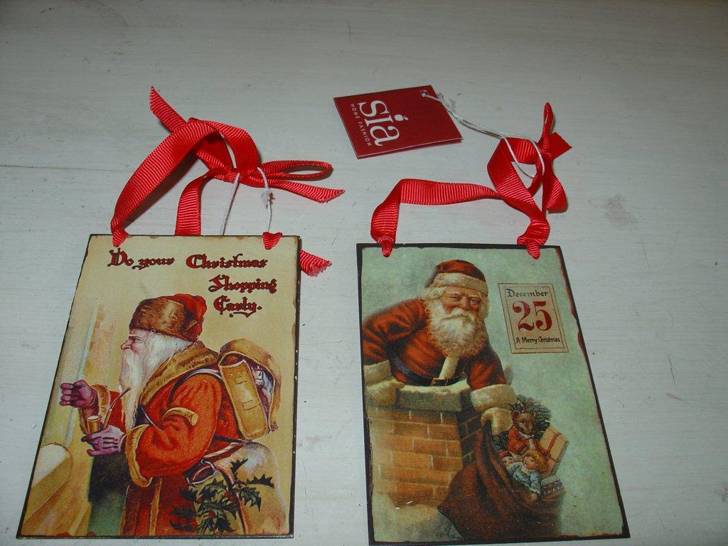 Vánoční RETRO plechová deska