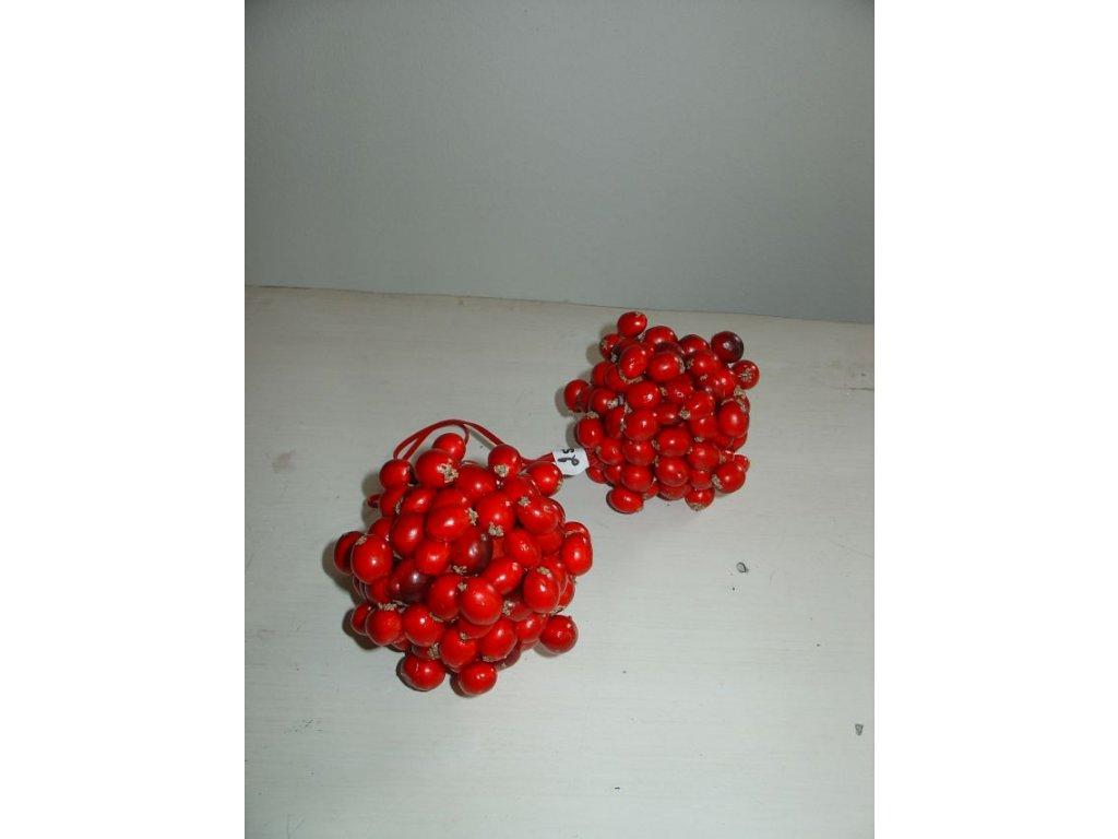 Vánoční v/o koule bobule červená