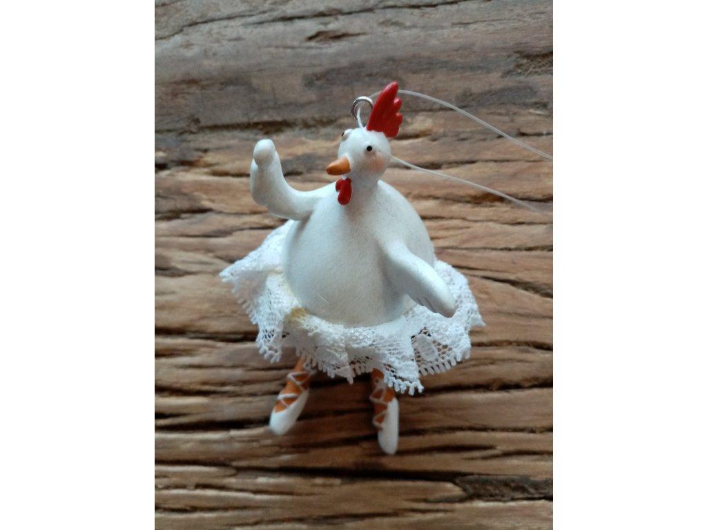 Velikonoční kuře závěs 10 cm