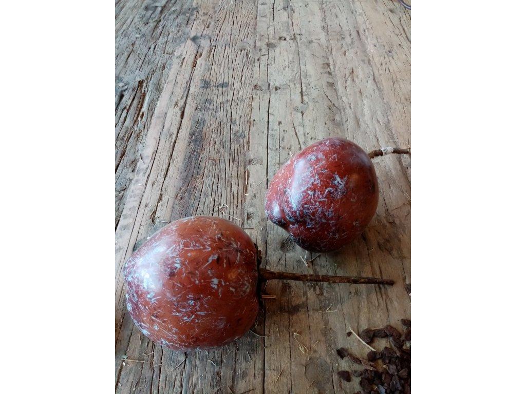 Dekorace/ozdoba kokos ořech světlý, tmavý