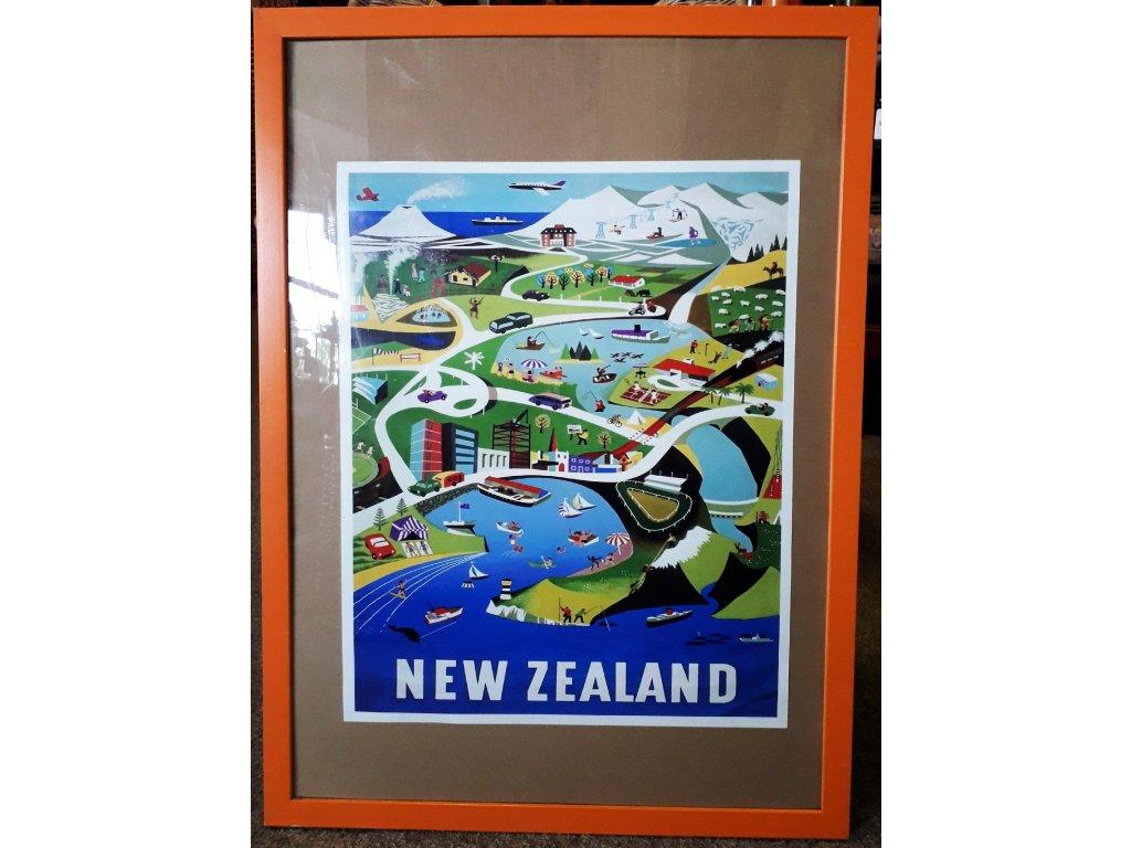 Plakát malý NZ vč. rámu