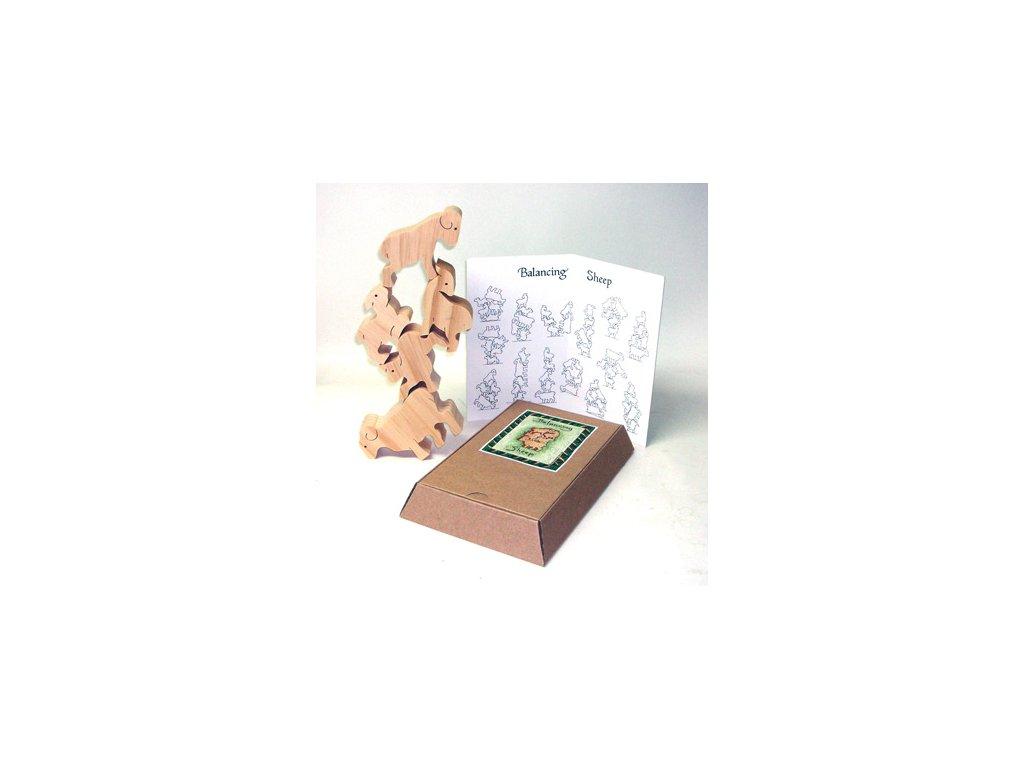 Dřevěná interaktivní hračka - balancující ovečky