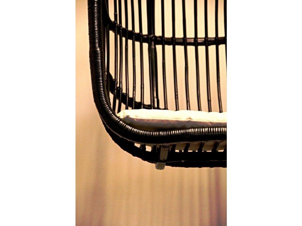 Ratanová závěsná KLEC EVROPA černá