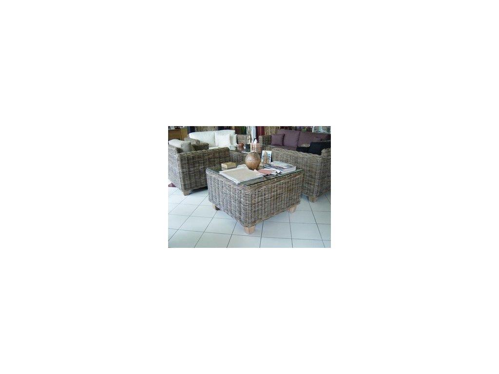Konferenční TOSCA stůl 80 x 80 x 40 kubu grey