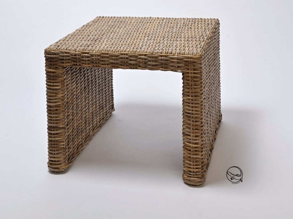 Ratanový stůl BRUNO/PANDORA 40x46 kubu grey