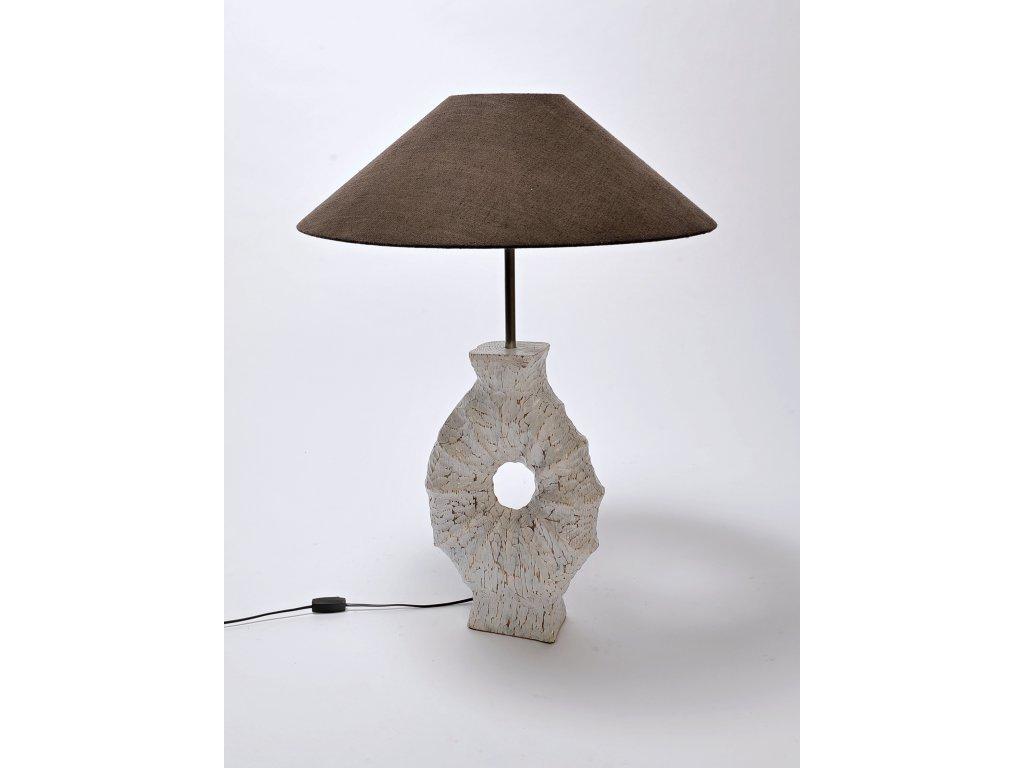 Dřevěná lampa KORÁL včetně stínidla