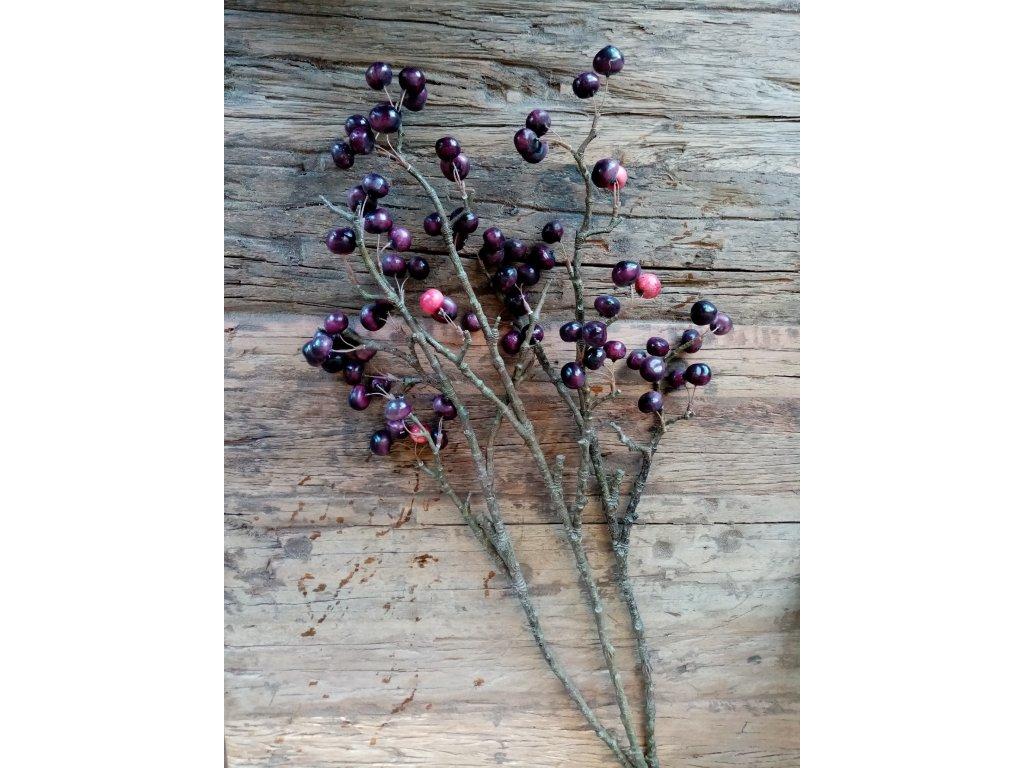 Květina/dekorace větev třešničkami