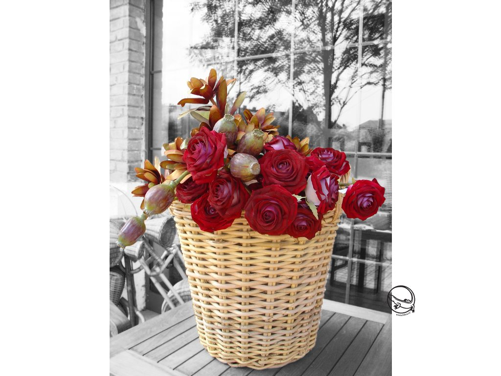 Květina/dekorace růže Chiara 60cm