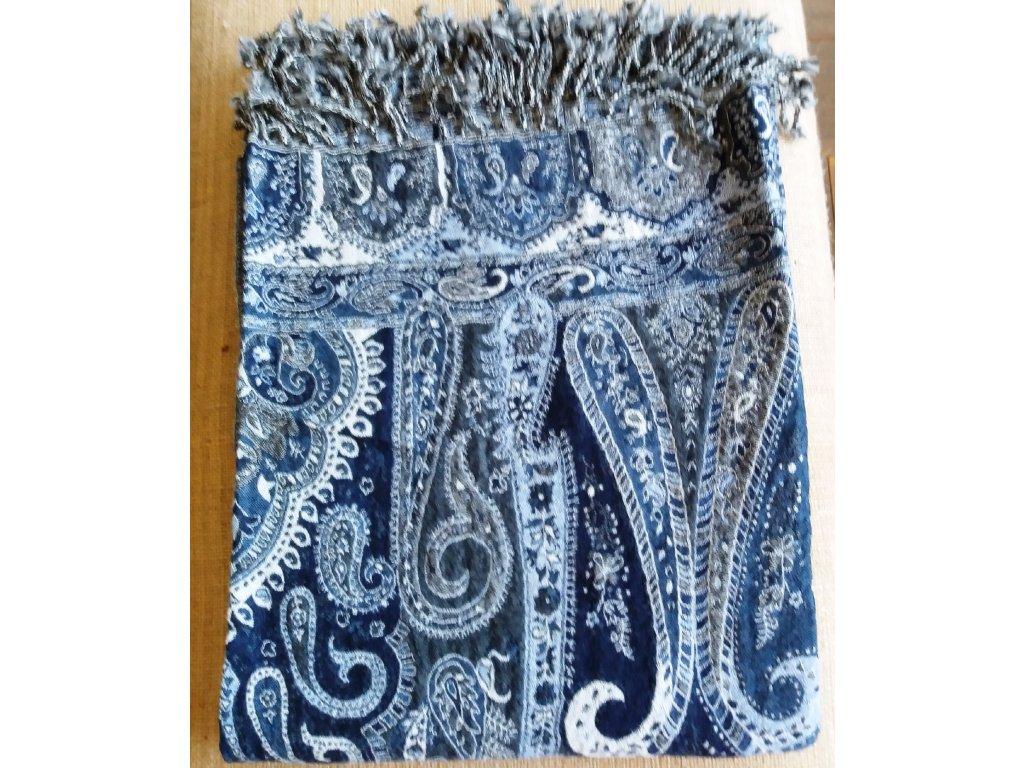 Pléd/deka vlna hřejivá modrá