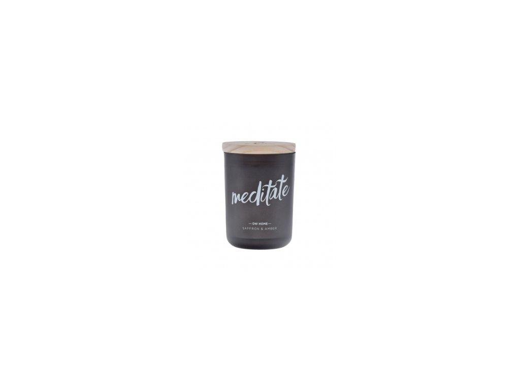Svíčka vonná ve skle MEDITATE - SAFFRON & AMBER