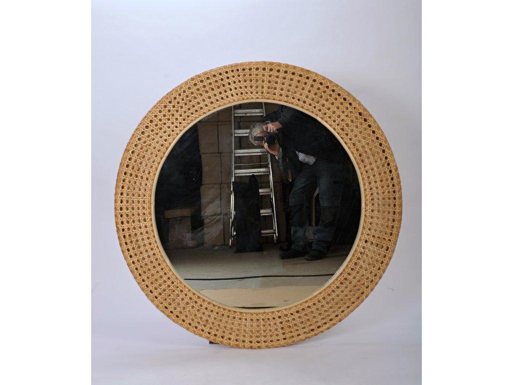 Ratanové zrcadlo LASIO průměr 120cm