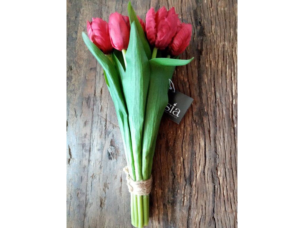 Kytice tulipánů rudé 30cm