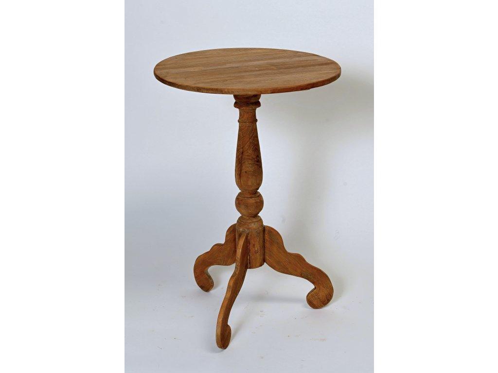 teakový stolek kulatý