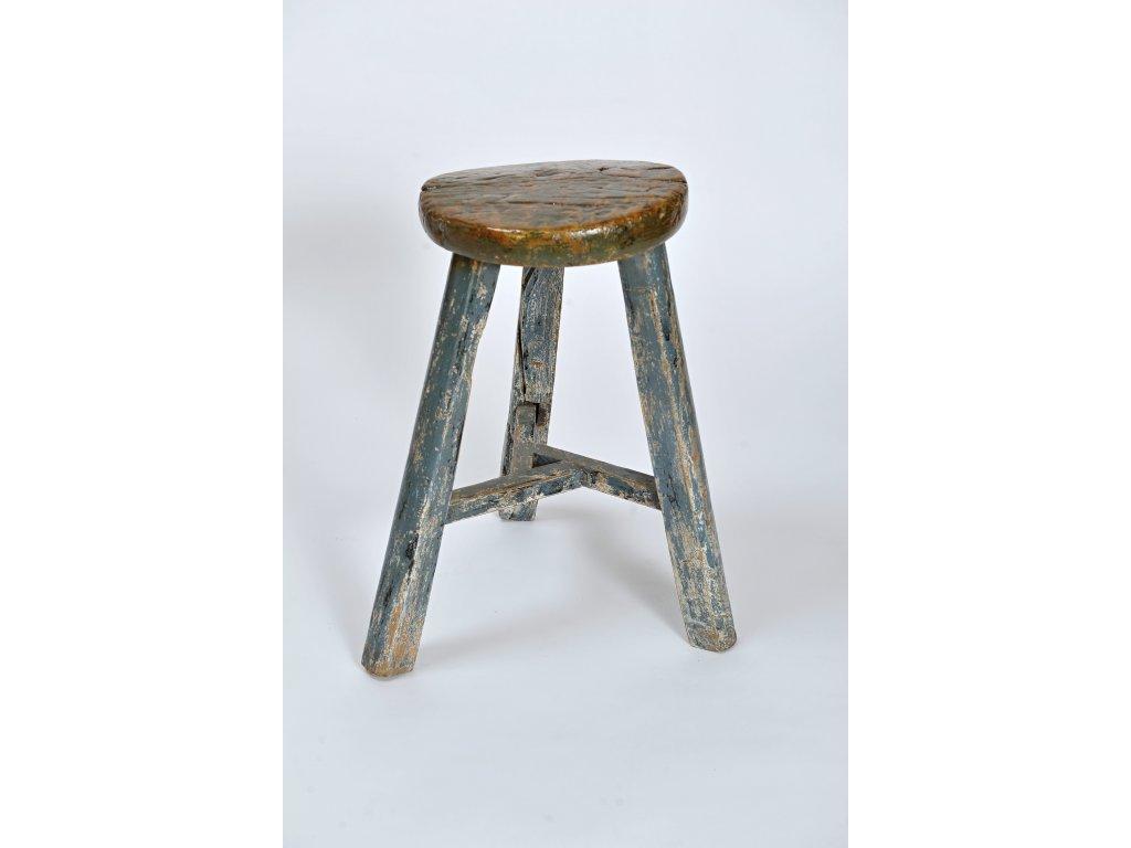Dřevěná stoličkakulatá ANTIK (2)
