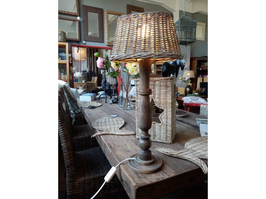 Dřevěná lampa RUSTIC