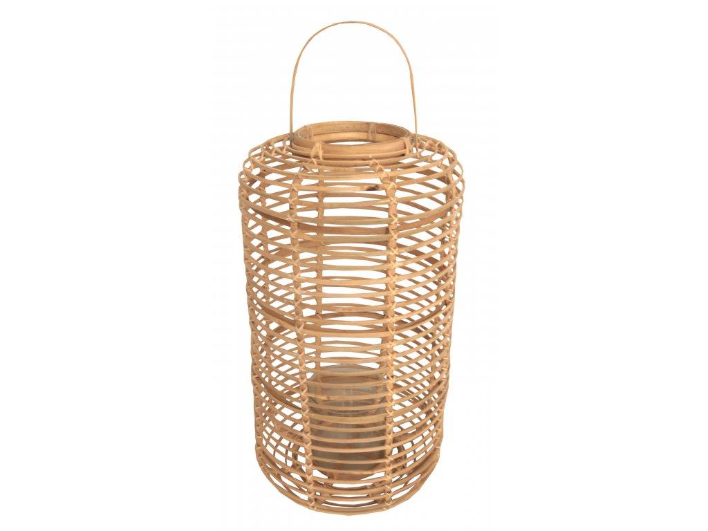Lampion BAMBOO natur ovál + sklo