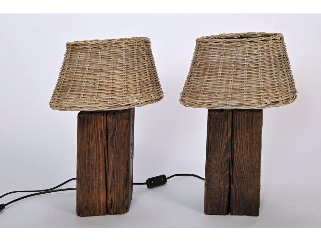 Dřevěná lampa KANTE (1)