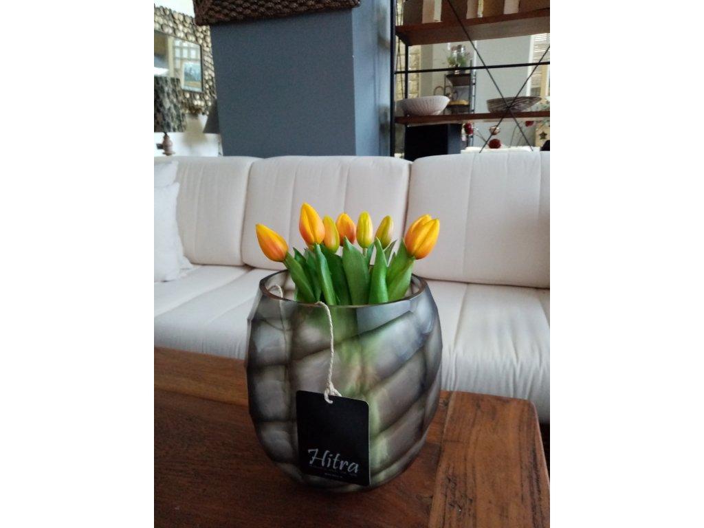 Váza sklo žíhané