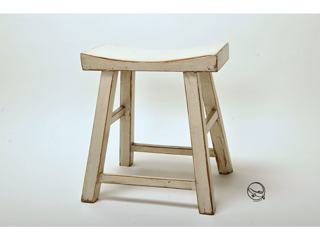 stolička bílá
