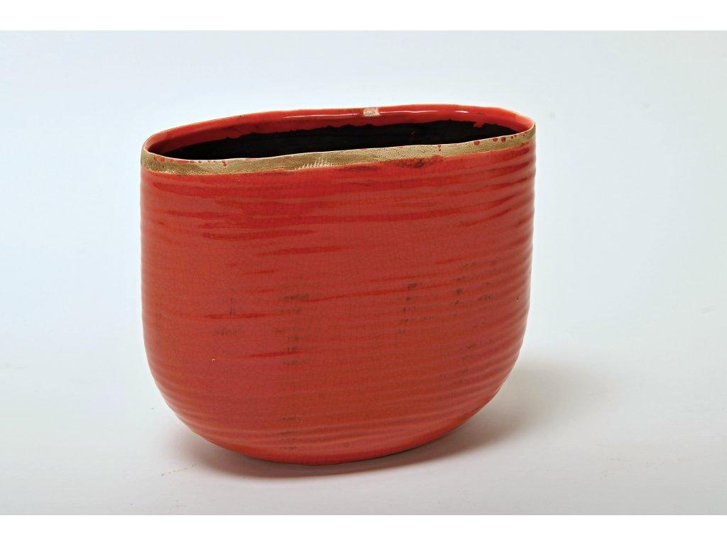 Květináč / váza hliněná červená
