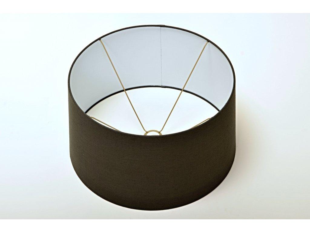 Stínítko kulaté 35/30 v barvě tmavé šedé kovové