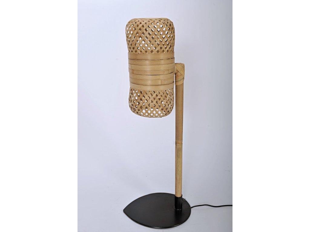 Bambusová lampa RETRO nízká (3)