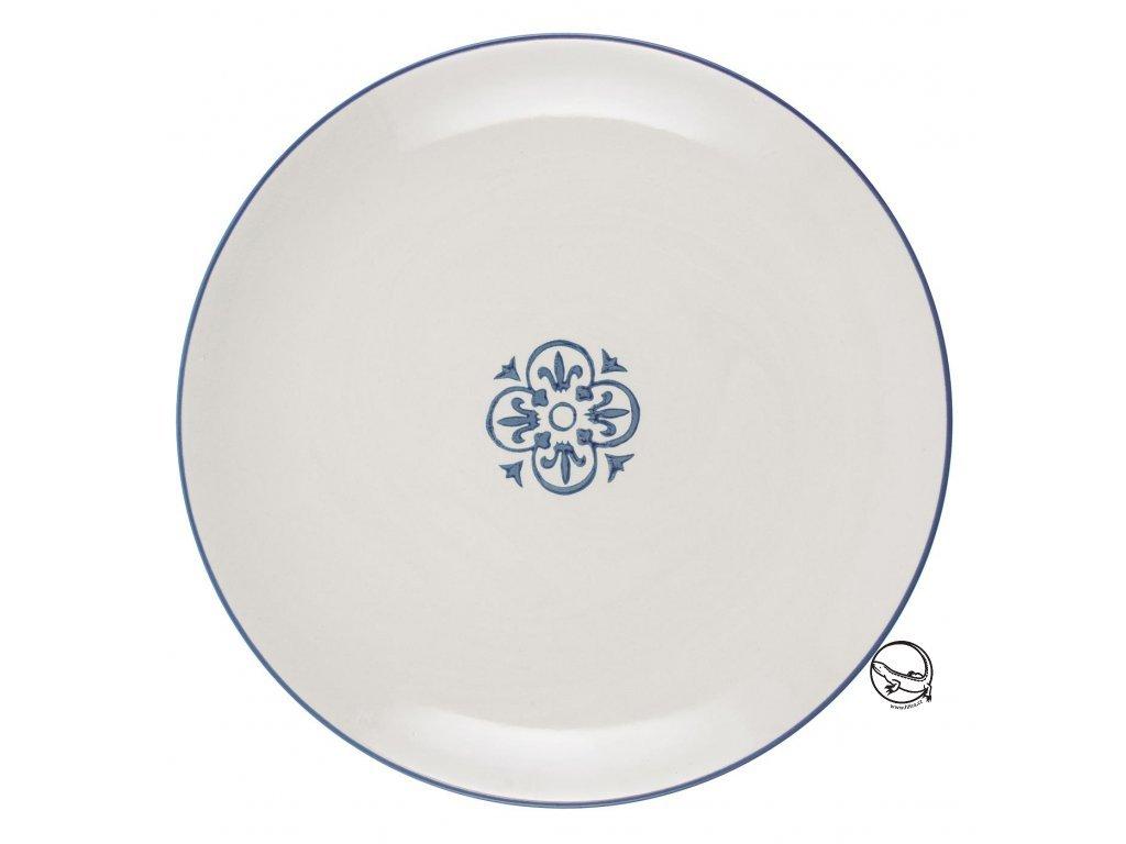 Dezertní talíř modrý Casablanca