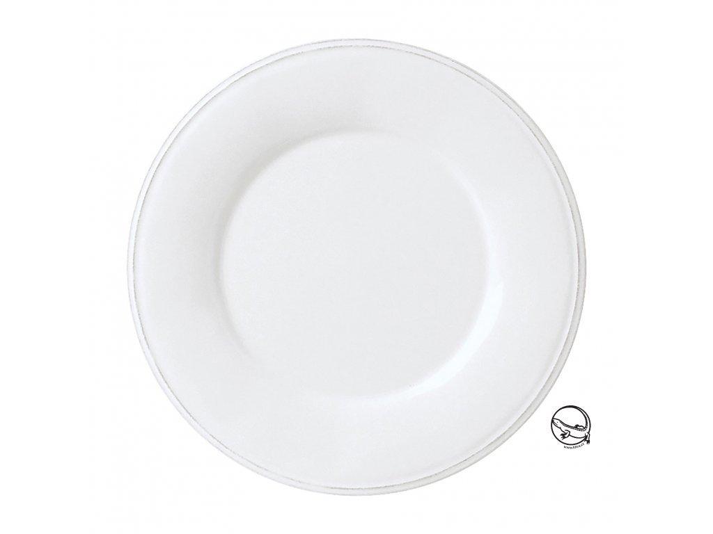 Dezertní talíř Constance bílý
