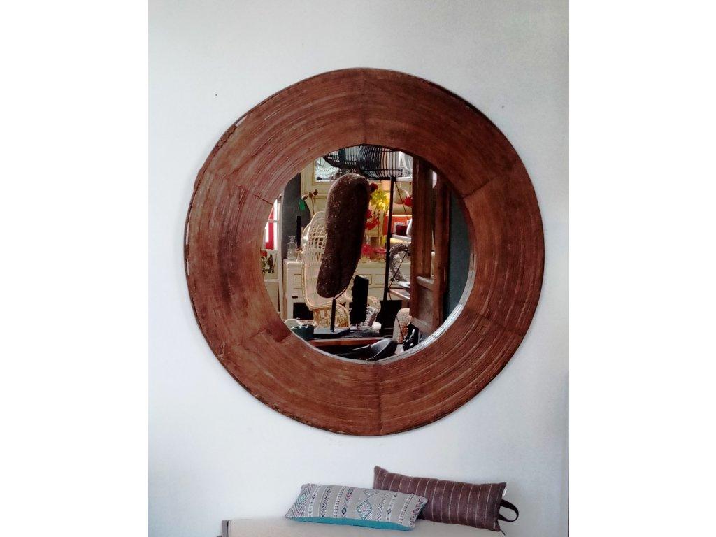 Dřevěné zrcadlo KOLO max