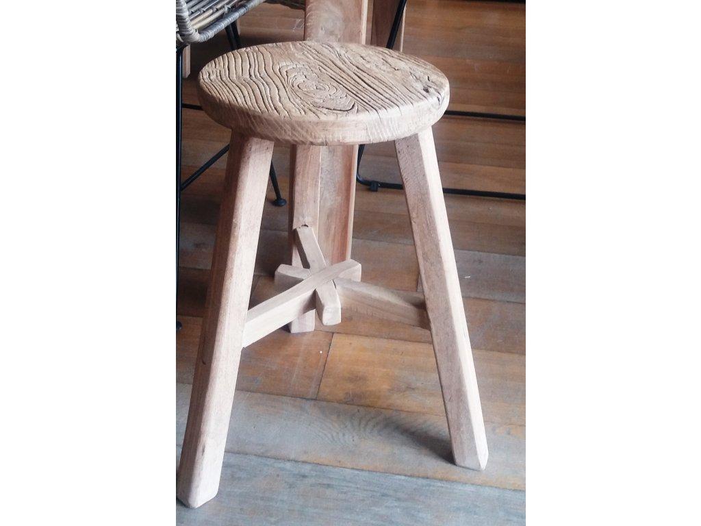 Dřevěná stolička kulatá PRIMITIV velká
