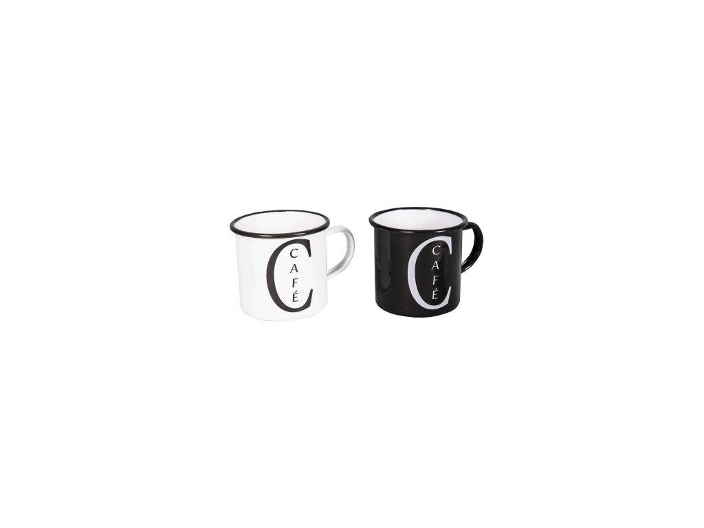 set 2 mugs cafe noir et blanc