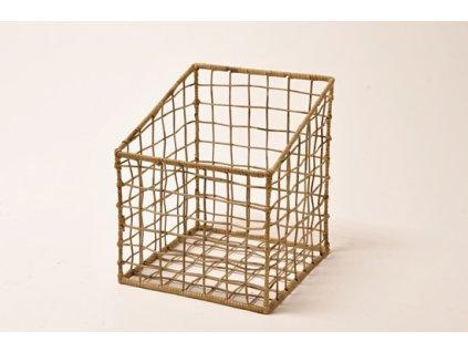 Ratanový koš BASKET/úložný box 30x35x30cm grey