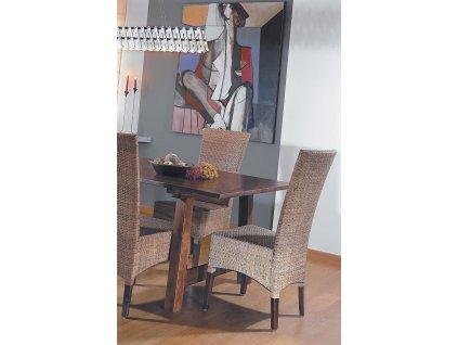 Ratanová židle LASIO nízká coklat