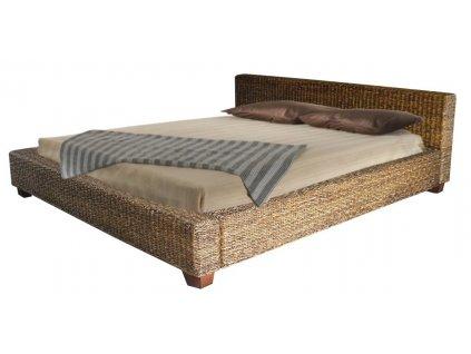 Manželská postel DIMA 160x200 banánové listí