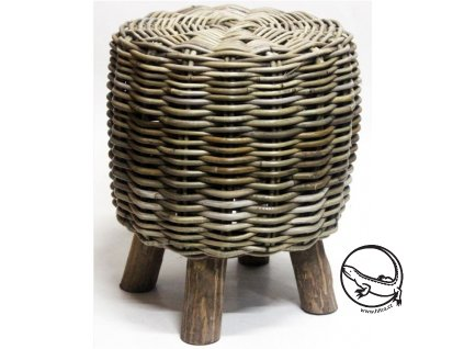 Ratanová sedačka DANY kubu grey