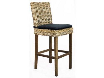 Barová židle JAWIT grey/ bez polstru