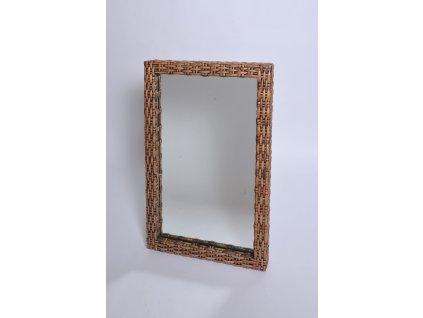 Zrcadlo 100x60 lasio coklat - hluboký rám